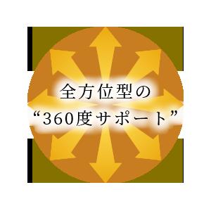 """全方位型の""""360度サポート"""""""